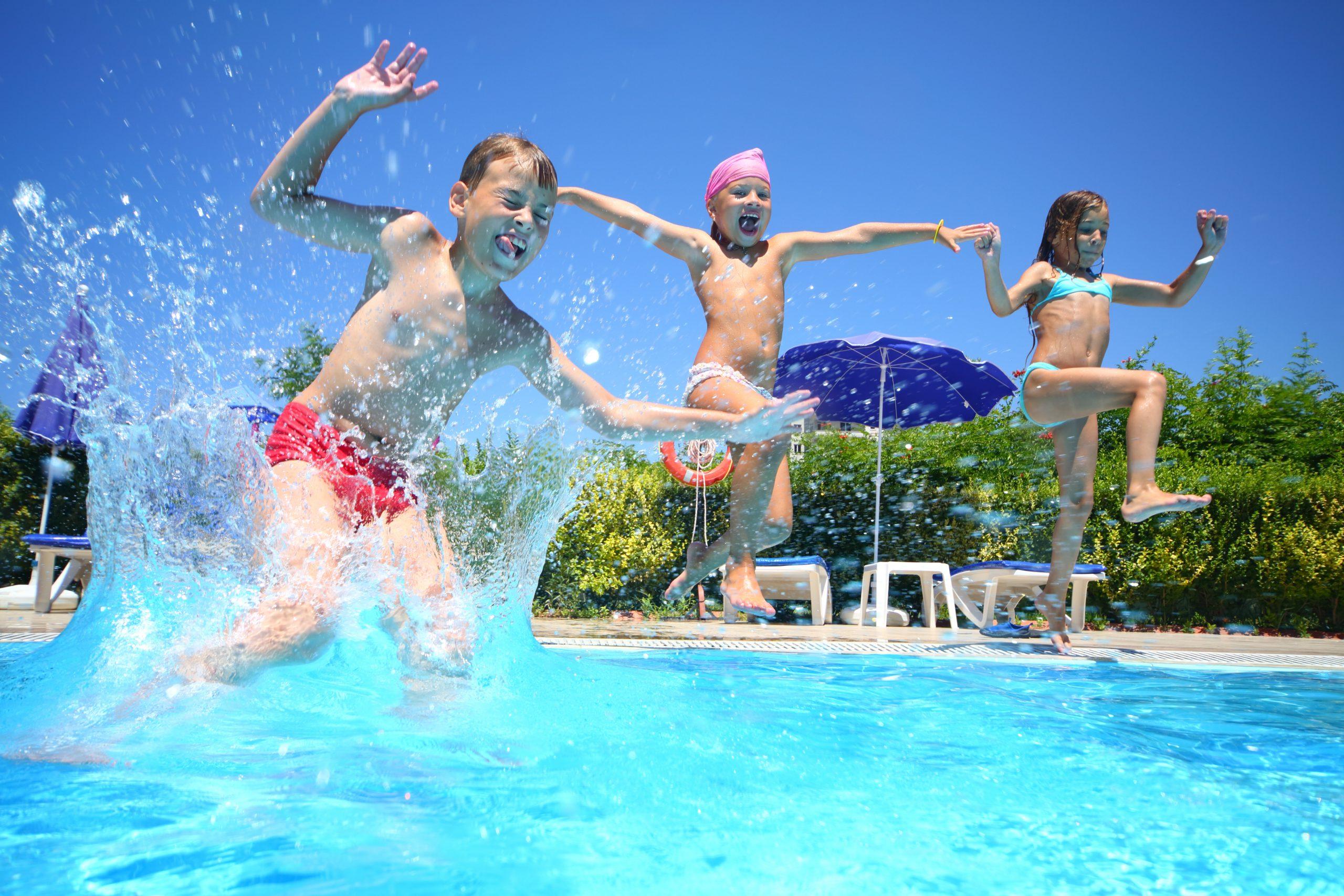 inground swimming pool fun