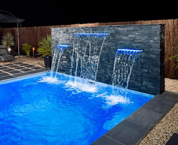 DIY Pool Water Feature